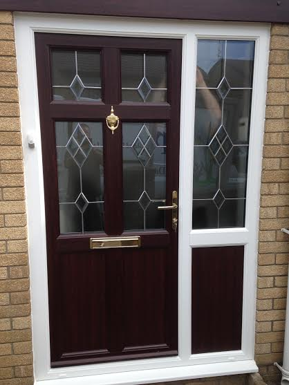 Vintage uPVC Front Door in Rosewood on White & MGP Gallery | MGP Windows and Doors - Cardiff