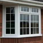 White UPVC Window Bay with Georgian Bar Glass