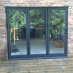 Anthracite Grey Aluminium Bi-folding Doors