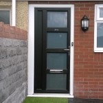 Black Mae Vintage UPVC Door
