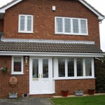 White UPVC Windows & French Front Doors