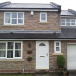 White UPVC Windows with White Composite Door