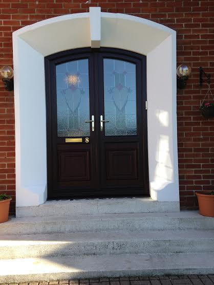 Rosewood doors doors flint stable door in chartwell for Arched upvc french doors