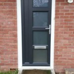 Anthracite Grey Vintage UPVC Door